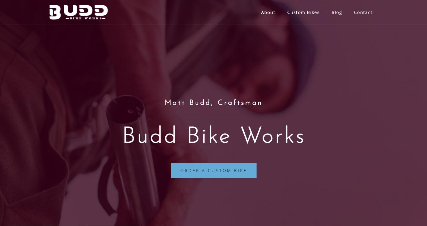 BuddBikes.com home page