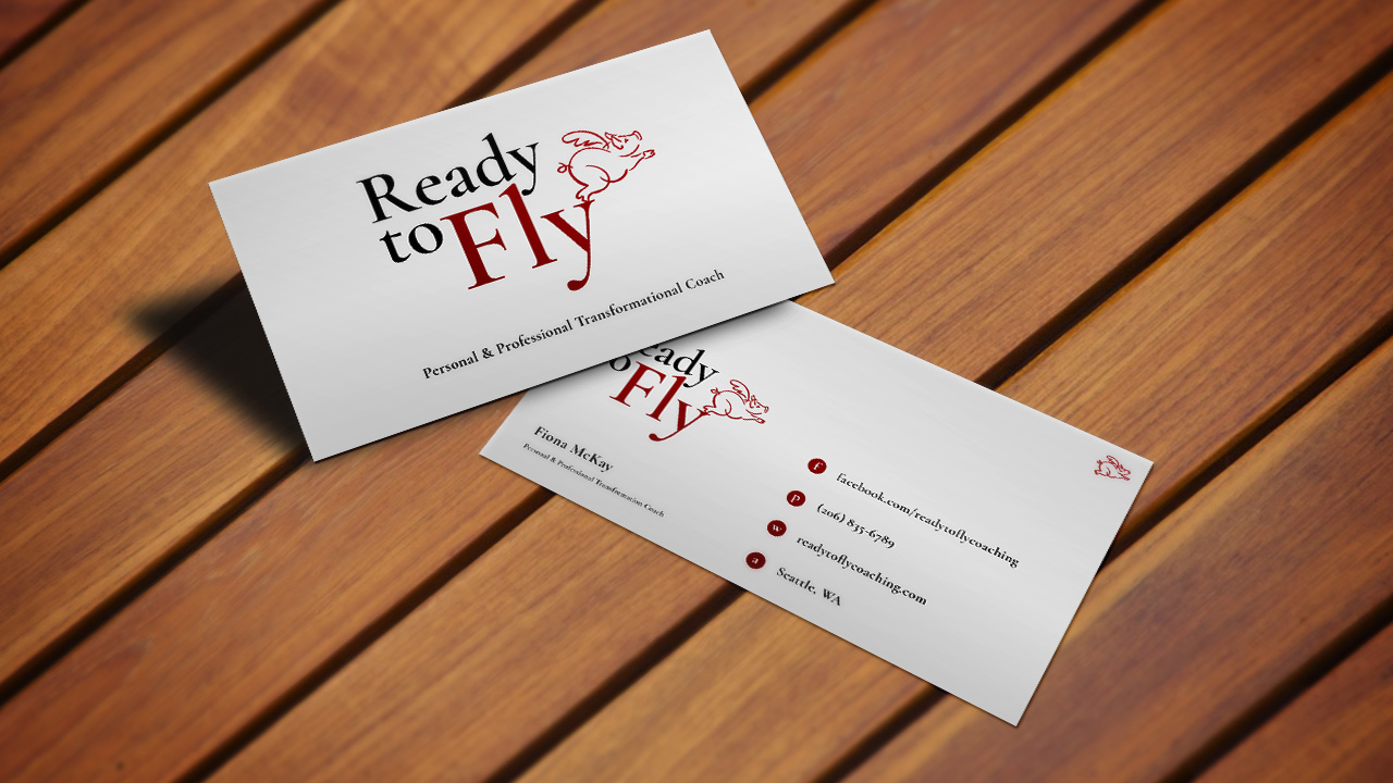 Ready to Fly business card mockup