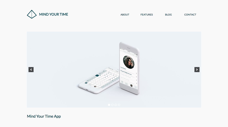 WordPress Portfolio home page