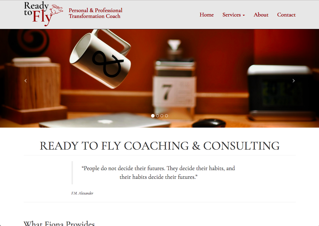 Ready to Fly Website Design mockup