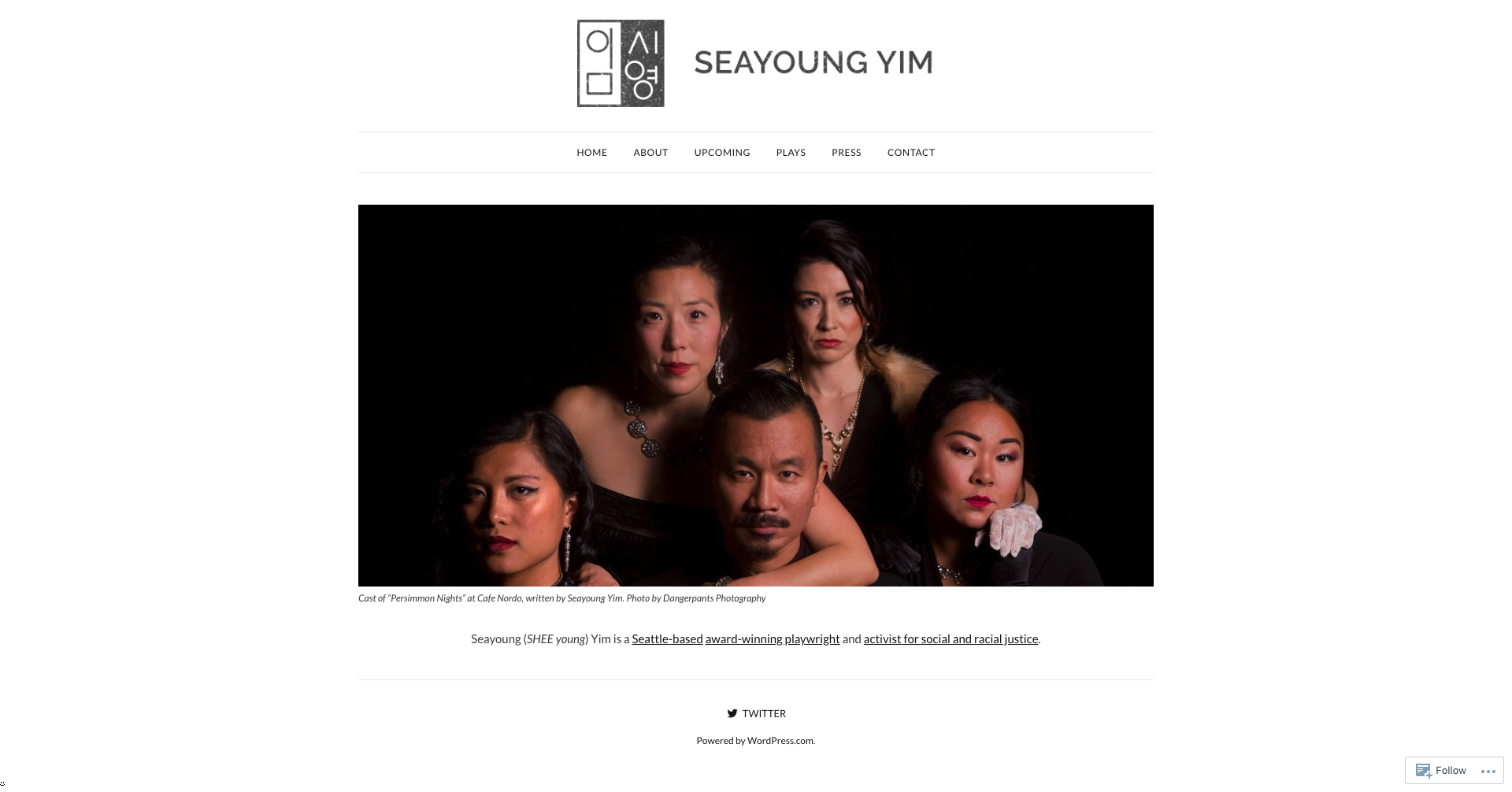 Desktop view of SeayoungYim.com