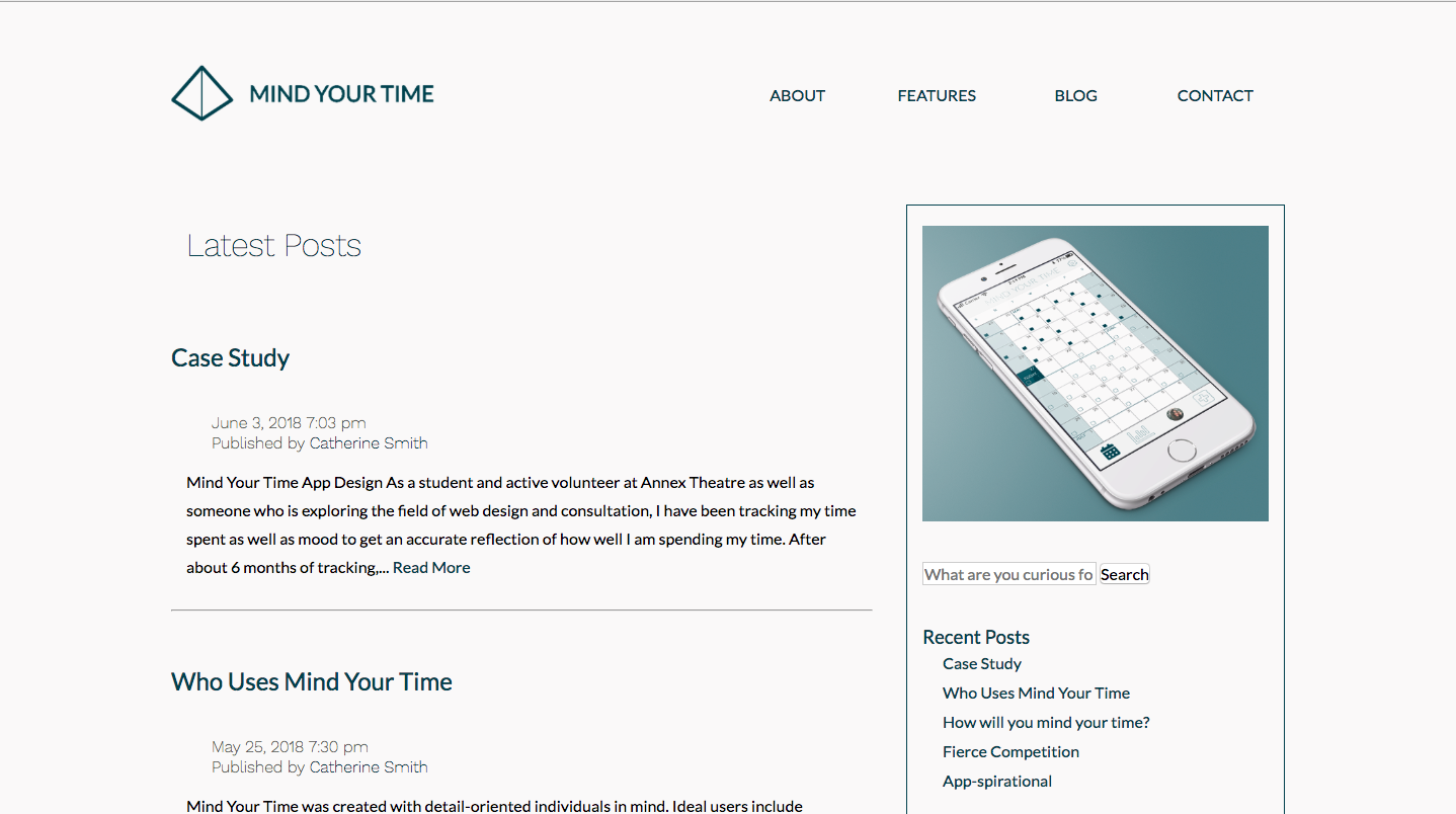 Mind Your Time Blog Page